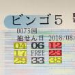 ビンゴ5第73回の予測と当選番号