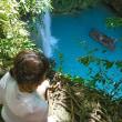 セブ島  カワサンの滝  KAWASAN FALLS BRIDGE