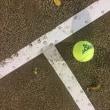 結果異常なしの足でテニスを楽しむ。