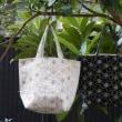2017年 作品布02 刺繍のバッグ(麻30%、綿70%)