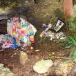 チビチリガマが破壊 内部荒らされる 遺骨や遺物、折り鶴も 遺族「ひどすぎる」