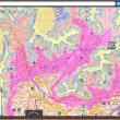 津波に備え高台まで逃げる体験。神奈川県逗子市。色別標高地図