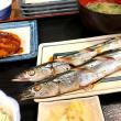 生さんま塩焼き定食 at 磯丸水産 代々木店
