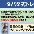 【1か月ぶりのタバタ式トレーニング】