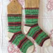 手編み靴下 作品NO.238