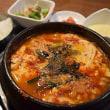 辛口工房で純豆腐(スンドゥブ)納豆定食を!