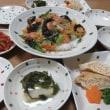 もやし巾着煮☆野菜の香味炒め丼