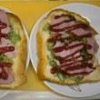ネギピザトーストで朝ご飯 (募金の方法は色々…)