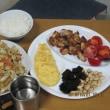 ごはん鍋と鶏唐揚げ
