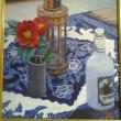 油絵サークルの展示会に静物画2点を出品!