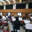 昨日のオーケストラ千里山の練習(1月14日)