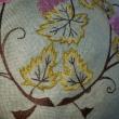 たわわに実った葡萄の刺繍🍇