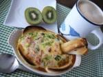 10分で朝カフェごはん♪パンキッシュ&ソイラテ♪