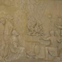 聖エリヤ修道院のレリーフの写真 Ⅰ