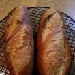 フランスパンとローストビーフ
