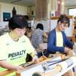 仙台のお友達と手織り体験にきました   竹島クラフトセンター