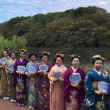 松江城で古典日本髪!