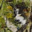 真鶴・湯河原の「光と影」水彩画