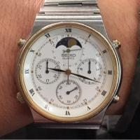 今日の腕時計 12/7 SEIKO CRUISING 7A48-7000 MOON PHASE