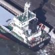 台風24号(Trami)が貨物船を襲った   川崎港
