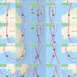 QZS-1同乗軌道拡大図1時間毎分解タイル列による幾何点検