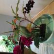 花意匠 傾ける型 山ごぼう、ダリヤ、グラス