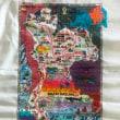 クロスステッチ刺繍でタイの地図を作りました!!