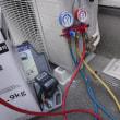 アンテナ配線やエアコンガスチャージ