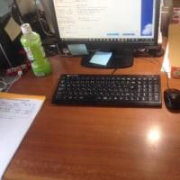 グランドゴルフと事務所の整理