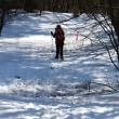 残雪の四阿山へ。