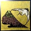 【切り絵シリーズ第15弾】完成です! 「富士の桜に鶴の舞」