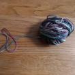 残り毛糸を編む ブローチづくり