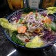 男の素人料理:「伊麺=イーミー」の「あんかけ時次郎風」の仕上げ。