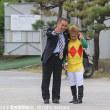 坂本昇調教師と山本聡紀騎手