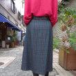 パシオーネ☆チェック&エコレザー・ベルト付きスカート☆