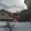 大雪で破損した屋根