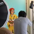 着物姿でスタジオ撮影実習