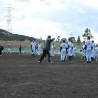 野球教室のお手伝いに参加しました。