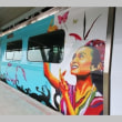 台湾のMRT空港線にラッピング列車2種登場 離島と花蓮の魅力PR