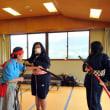 茨城県立筑波高校の「つくばね学」、筑波山ガマの油売り口上の実習風景