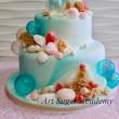 海をイメージしたケーキ