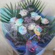 レインボーバラの花束をお作り致しました。(お誕生日・プレゼント用)