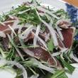 なす蕎麦☆カツオのタタキ