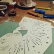 鳥の大型カード(のカット)