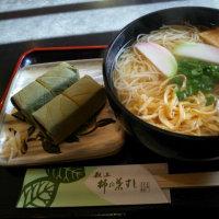 茶房ふたかみ 柿の葉ずしセット(にゅうめん)