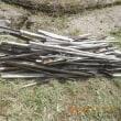 古い竹の支柱を処分しました
