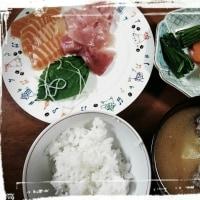 0804_夕食はお刺身