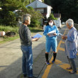 大島島内避難訓練(ビラ配り)
