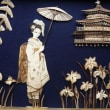 舞妓(竹貼り画)