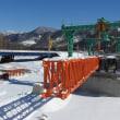 新しい千露呂橋の工事が進んでいます